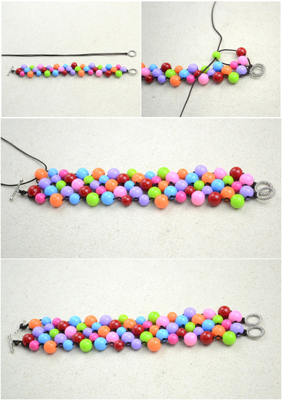 How to bead a woven bead bracelet. Handmade Beaded Bracelets Out Of Affordable Jewelry Making Materials - Step 4