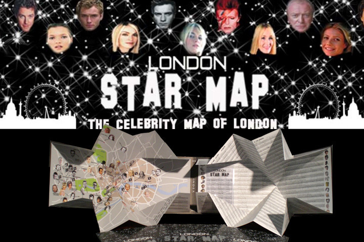 London Star Map in Snippets Magazine Issue 13